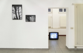 """o.T."" Pigment-Inkjet-Prints von Kristina Berndt, ""I'ko:n"" - Loop von Henrike Pilz"