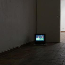 """""""Grünes und blaues Licht"""" Videoloop von Henrike Pilz"""