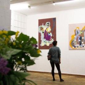 """Eröffnung, """"Arbeiterbilder"""" Malerei von Henrike Pilz"""