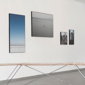 """o.T. (Himmel)"", ""Auf See"", ""Im Dorf"", ""Der Turm"" - Inkjet-Prints von Kristina Berndt (v.l.n.r.)"