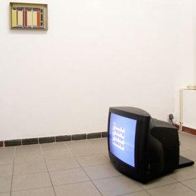 """""""Bildarchiv /Leere Räume"""" Digitale Zeichnung von Charlotte Perrin, """"I'ko:n"""" - Loop von Henrike Pilz"""