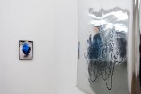 """""""o.T. (Vogel)"""" von Kristina Berndt, """"Spinnenleuchter"""" von Sophie Lindner"""